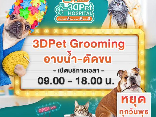 3DPet Grooming โซน อาบน้ำ ตัดขน น้องหมาน้องแมว